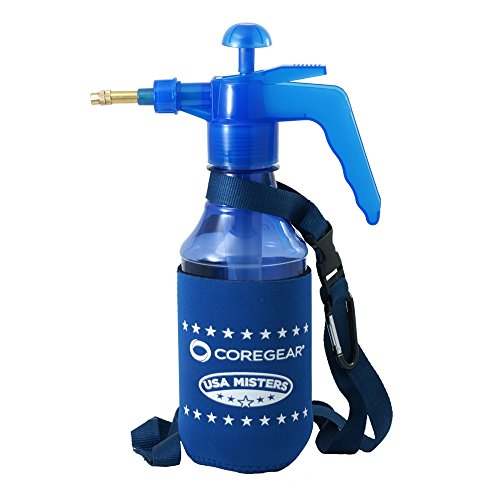 CoreGear USA Misters 1 Liter (MISTER COOL JR) Pump Mister & Sprayer With Koozie Styled Neoprene Cool Sleeve (Blue)