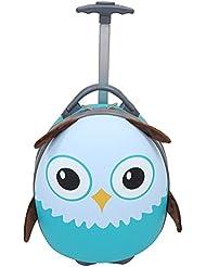 "Emmzoe Kids & Toddler 15"" Carry On Animal Trolley Hardshell Luggage - Lightweight EVA, Dent Proof, Adjustable..."