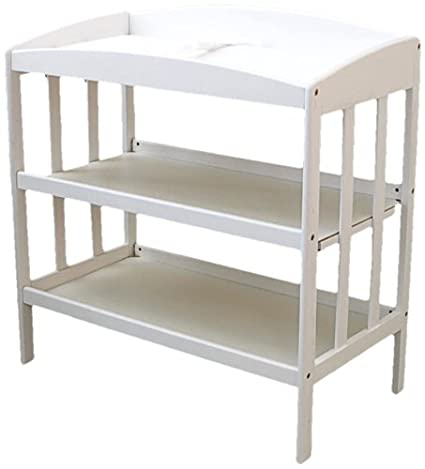 Discontinued by Manufacturer LA Baby 3 Shelf Wooden Changing Table Natural