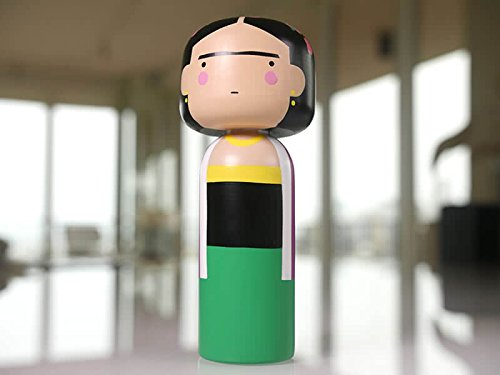 Lucie Kaas -  Famous Artists  Kokeshi Japanese Dolls - 5.7H Inches - Schima Superba Wood - Made in Denmark  (Frida)
