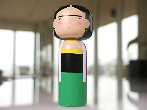 Frida Kahlo Kokeshi Japanese Dolls by Lucie - Doll Kahlo Frida