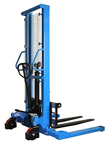 DAZONE Manual Forklifts & Pallet Stackers, Hand Pump Operated Lift Trucks - Easy Lifting of Lighter Loads 2200LBs in Small Warehouses/Light Industrial Environments - MAX 63