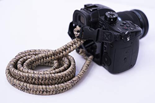 (Desert Camo Paracord Camera Strap Canon Nikon Sony)