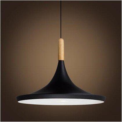 LuckyLibre InstruHommests créatifs tête simple rétro Pendentif Aluminium lumière Bar Cafe Restaurant Cuisine Chambre couloir plafond Lustre Lampe éclairage extérieur,un intérieur noir blanc