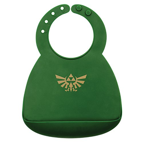Bumkins Nintendo Zelda Silicone Bib, Baby Bib, Toddler Bib, Comfortable, Waterproof, Wipe Clean, Stain and Odor Resistant, 6-24 Months]()