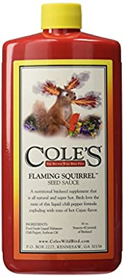 Cole's FS16 Flaming Squirrel Seed Sauce, 16-Ounce from Cole's Wild Bird Products
