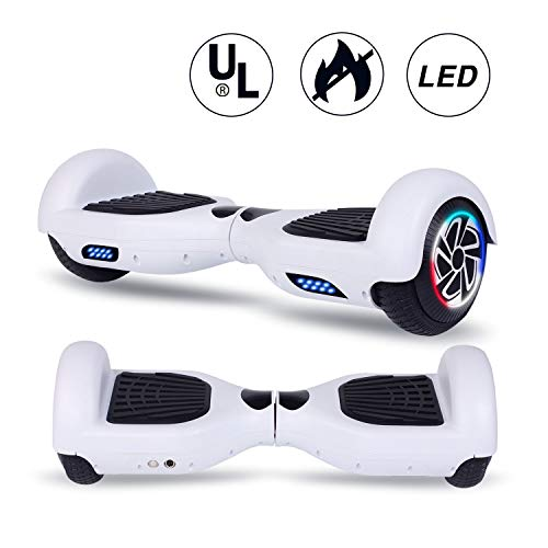 SISIGAD Hoverboard, Self Balancing Hoverboard, 6.5″ Two-Wheel Self Balancing Scooter, Smart Hover Board for Kids Gift, Adult Electric Scooter, UL 2272 Certified – Pure Color Series (No Bluetooth)