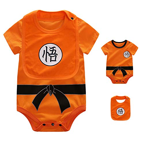 YFYBaby Newborn Baby Boys Girs Dragon Ball Z Halloween Costume Onesies Bodysuits Romper Jumpsuit Animal Outfit Orange]()