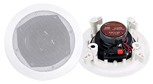 8) New PYLE PRO PDIC61RD 6.5'' 200W 2-Way In-Ceiling/Wall Speaker System White by Pyle Home (Image #4)
