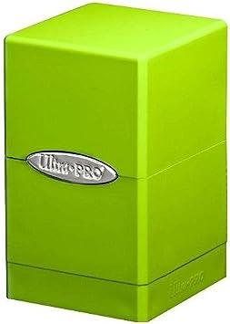Ultra Pro Deckbox Satinado Tower C6 – Juego de Cartas (Verde Lima): Amazon.es: Juguetes y juegos