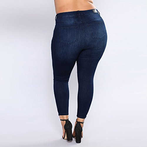 Size Taille Beautyjourney Pantalon Jeans Jean AD Stretch Alta Skinny Plus Bleu Haute Pantaloni Vita Skinny Jeans Slim Strappato Femme Fonc Denim Skinny Pantaloni Elargisseur Pantalon rYqrIP