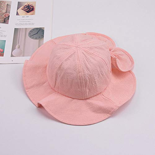 (JJJ Toddler Sun Hat, Male and Female Baby Visor with Sun Spring Fisherman Visor Summer Beach Hat Suitable for Children Male and Female Baby,Pink)