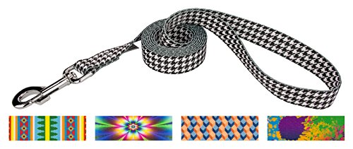 Country Brook Design 5/8 Inch Houndstooth Dog Leash - 6 Foot (Houndstooth Leash)