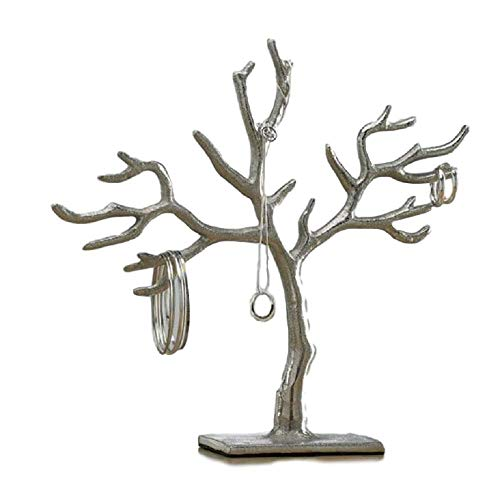 KINDWER Hanging Jewelry Tree Earring, Necklace, Ring and Bracelet Organizer, 11 Inch (Sale For Trees Jewelry)
