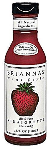 Briannas Home Style Dressing Blush Wine Vinaigrette -- 12 fl oz - Wine Vinaigrette Dressing