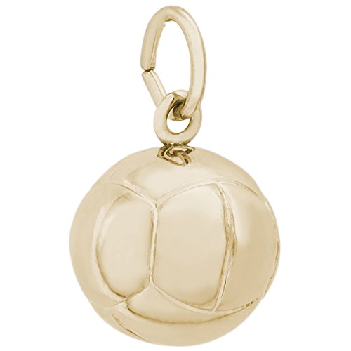 (Rembrandt Charms, Volleyball, 10k Yellow Gold)