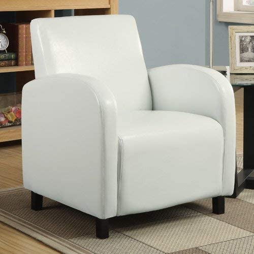 Accent Chair Living Room Bedroom Furniture Modern Design Home Office Armchair Single Sofa White Leather Look