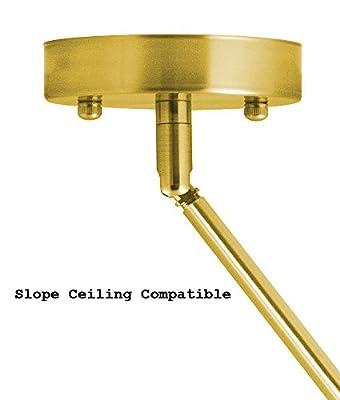 Dazhuan Vintage Metal Sputnik 12-Lights Chandeliers Pendant Lighting Hanging Ceiling Fixture