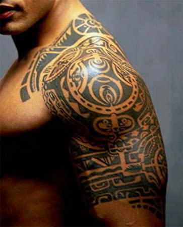 kotbs 3 hojas/Set tatuajes Dwayne Johnson Star 3d Big tamaño ...