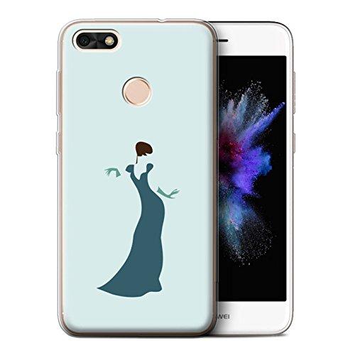 STUFF4 Gel TPU Phone Case / Cover for Huawei P9 Lite Mini / Woman/Dress/Chic Design / Teal Fashion ()