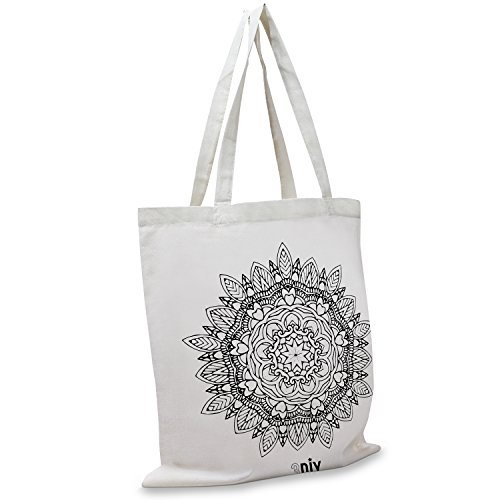 3DIY Olivia Reusable Eco-Friendly Canvas Tote Bag, With Styl