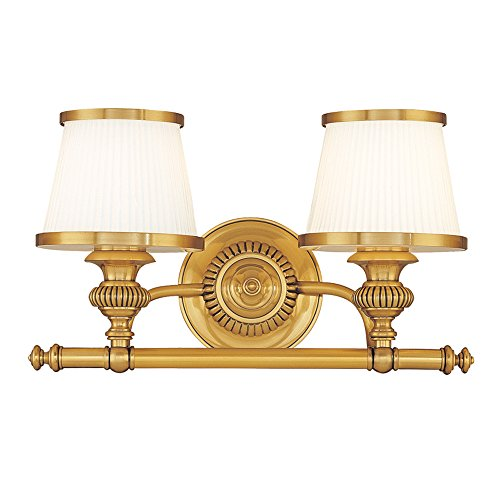 - Hudson Valley Lighting 2002-FB Two Light Bath Bracket from The Milton Collection, 2, Flemish Brass