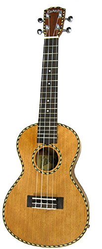 Kealoha Solid Top Concert Ukulele Antique Stained Finish with Binding and Aquila Strings