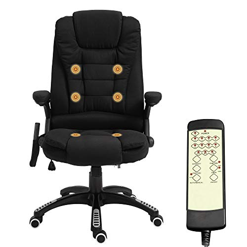 Vinsetto Office Chair High Back Adjustable 6 Point Vibrating Massage Ergonomic Reclining Executive Chair Office…