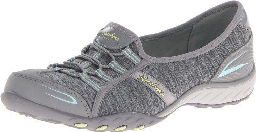Skechers Sport Women's Good Life Fashion Sneaker, Gray/Aqua, 8.5 M US