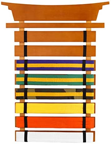 Martial Arts Display for 15 Belts /& choice of 9 colors MADE IN USA ***solid wood