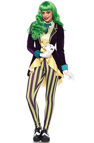 Leg Avenue Women's Evil Trickster Villain Costume, Multi, Large -
