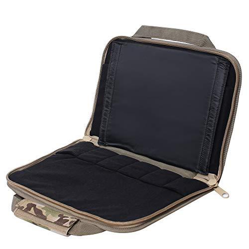 Kylebooker Tactical Deluxe Pistol Case Double Handgun Range Bags (CP)