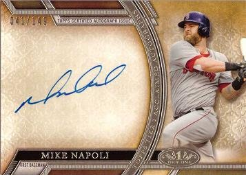 2015 Topps Tier One Acclaimed Autographs  Aa Mn Mike Napoli Certified Autograph Baseball Card   Only 149 Made    Near Mint To Mint