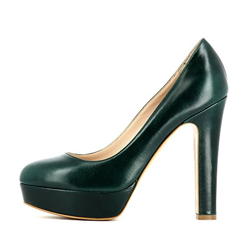 Tacco Evita Riccarda Donna Verde Scuro Scarpe Shoes Col Z7Iwg76q