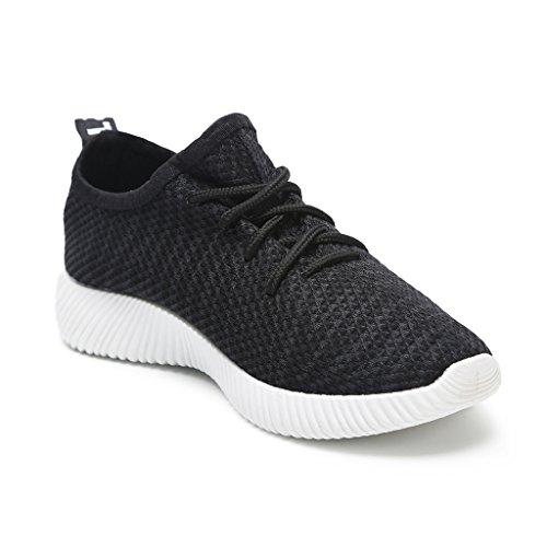 Hawkwell Mujer Negro Zapatillas Ligero Para De Gimnasia Sneakers Running Deporte rpS1xRrwq