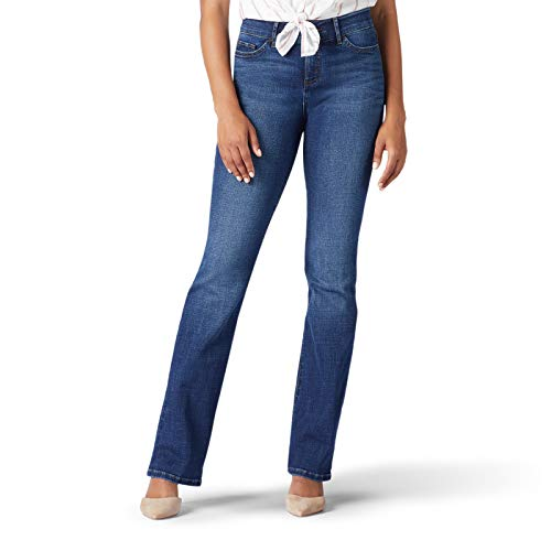 (LEE Women's Flex Motion Regular Fit Bootcut Jean, Cascade, 10 Long )
