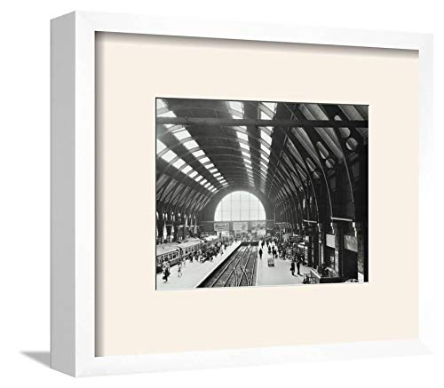- ArtEdge Kings Cross Station, Camden, London, 1970 Wall Art Framed Print, 9x12, Soft White Mat