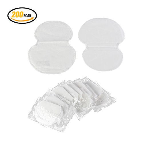 Underarm Armpit Sweat Pads,Summer Deodorants Cotton Pads,200X (100 Pairs) Armpit pad Comfortable & Discreet & Sweat Free & Odor Free by ANQIA
