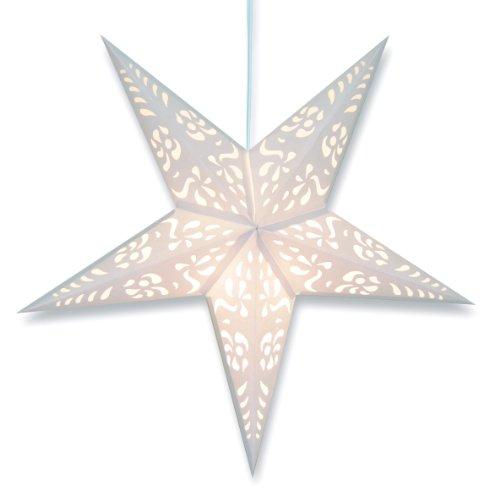 White Punch Paper Star Lantern (Star Paper Lanterns)