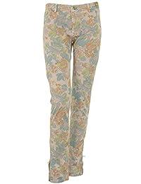 Monocrom Women's Atomoa3d15417 Multicolor Cotton Jeans
