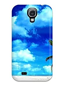 Durable Protector Case Cover With The Lone Palm Tree Hot Design For Galaxy S4