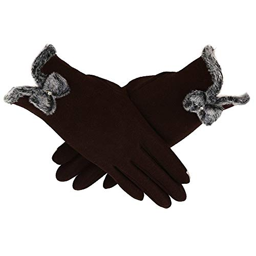 URIBAKE Women's Thermal Gloves Solid Full Finger Touch Screen Cashmere Lining Warm Driving Gloves from URIBAKE