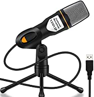 VIMVIP PC Microphone, USB Computer Microphone with Stand for iMac PC Laptop Desktop Windows Computer to Recording,...