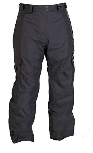 Xxl Snowboard Pants - Pulse GXT Elite Men's Cargo Waterproof Ski Snowboard Pants (XXL, Black)