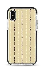 Stylizedd iPhone XS/X Cover Impact Pro Black Military Grade Shockproof Case - Linear Raindrops Full