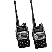 Baofeng 2PCS UV-5RD Two-way Radio, Dual-Band 136-174/400-480 MHz FM Ham, 128 Channels For Outdoor, Hotel, Restaurant
