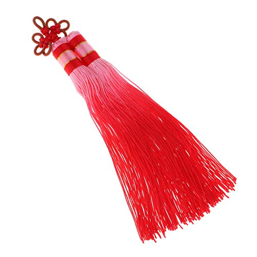 Good Fortune Gradient Color Chinese Knot Tassel for Car Home Hangs Ornaments | Color - Red