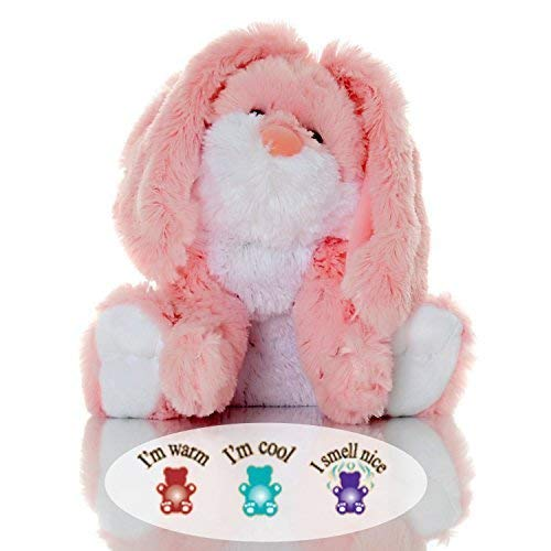Sootheze Rosey Bunny Rabbit - Microwavable Stuffed Animal - Weighted Lavender Scented Aromatherapy - Hot and Cold Therapy - 10.5