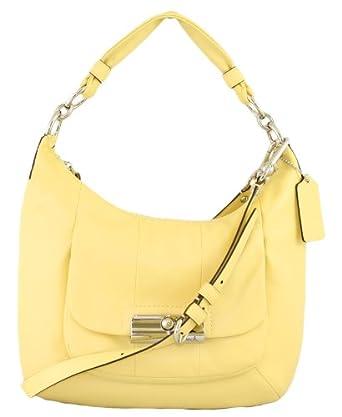 54e160ced6 Amazon.com: Coach Kristin Leather Convertiable Shoulder Hobo Bag Purse  16808 Yellow: Clothing
