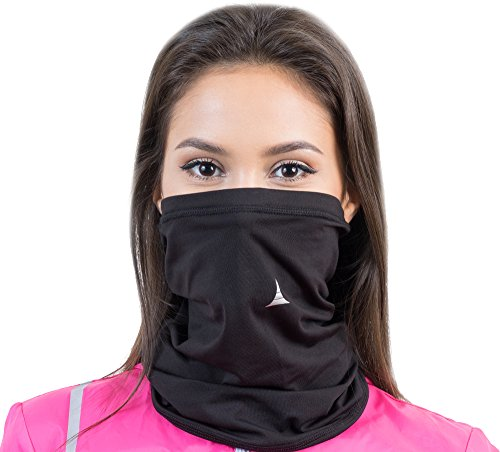 French Fitness Revolution Fleece Neck Warmer [Solids] / Reversible Neck Gaiter Tube, Ear Warmer Headband, Mask & Beanie. Ultimate Thermal Retention, Versatility & Style. Performance Comfort Fleece ()